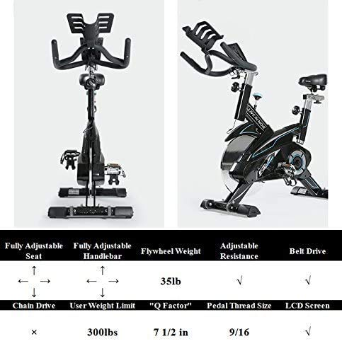 L NOW Exercise Bike Indoor Cycling Bike Fitness Belt Drive Stationary Bike (E1) Bikes Exercise