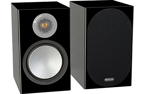 Best Bargain Monitor Audio Silver 100 Bookshelf Speakers - Pair (Gloss Black)
