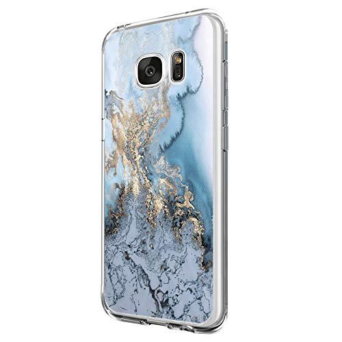 Jeack Hülle kompatibel mit Samsung Galaxy S6 Edge Floral Cover,Kristall Transparente Handyhülle mit weichem Silikon Ultra dünne Schutzhülle Bumper case für Samsung Galaxy S6 Edge (4)
