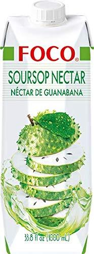 Foco Foco Guanábana, Néctar, Sabor Exótico, Refrescante Que Calma La Sed, Vegano 1000 g