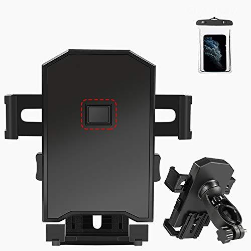 N / A Letztes Upgrade Fahrrad-Led-Licht Mountainbike Leuchte,Mit Handyhalter USB-Ladeanschluss 4000Mah,Mit Lautsprecher,Wasserdicht,StoßFest,Für das Für das 4'' bis 6,3''-Mobiltelefon