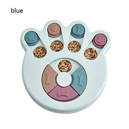 Food for schotel pet kattenvoer kom feeder Onderwijs feeder hondenvoer voor het voeden van katten kat hond grote kom aardewerk voedseldistributeur,blauw