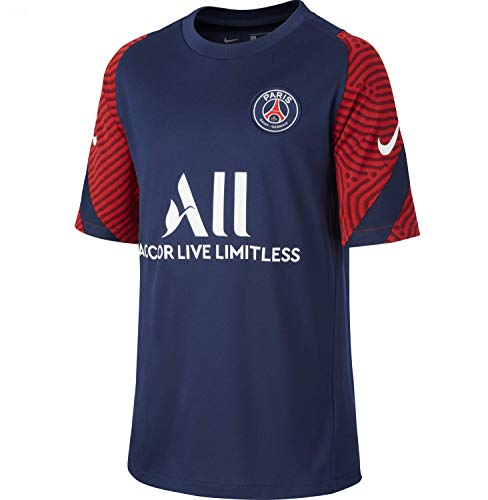 NIKE Camiseta de fútbol PSG Strike Training 2020-2021 (azul marino) - Niños, Unisex niños, azul marino, S