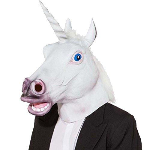 Amakando Careta Unicornio Mscara Unicornio Accesorio Disfraz ser mitolgico Accesorios fantasa Carnaval Antifaz Caballo con Cuerno Complemento Disfraz Filly