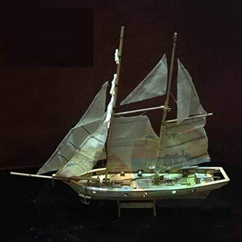 1yess Salon décorations Watercraft modèle de Construction en Bois Kits Jalko assemblé Modèle Navire à voiles DIY Western Classique modèle Bateau à Voile Toy Big Era Sailing
