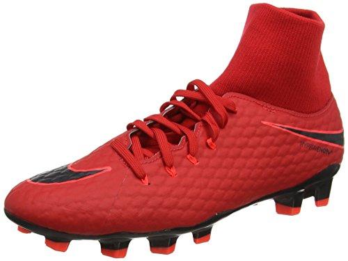 Nike Herren Hypervenom Phelon 3 DF FG 917764 616 Fußballschuhe, Rot (Rouge Université/cramoisi...