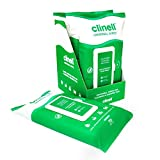 Clinell Universal Cleaning and Disinfecting Wipes for Home - 4 Packs of 70 XL Antimicrobial Wipes with Lock Lid - Kills 99.99% of Germs, Effective from 10 Seconds