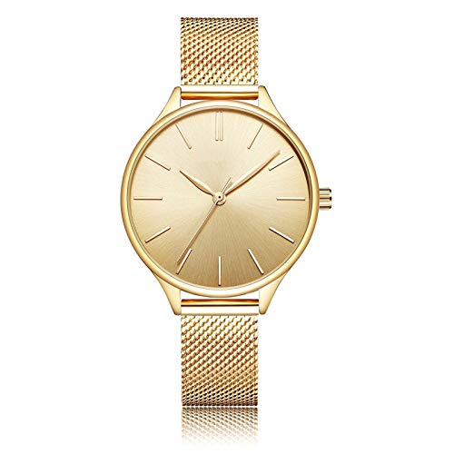 QHG Relojes de Mujer Muñequera de Lujo Muñeca Reloj Reloj de Acero Lady Impermeable Rose Drade Dorz Discos Regalos para Mujeres (Color : B)