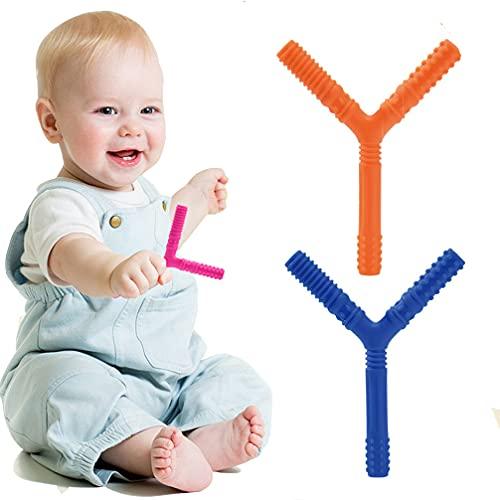 歯がため 指歯がため Y型歯がため 0歳 新生児 天然ゴム 収納箱つき 人気 欧米で人気的 ピンク 可愛い 男の子 女の子 ベビー 赤ちゃん 出産祝い 誕生日 プレゼント (2枚)