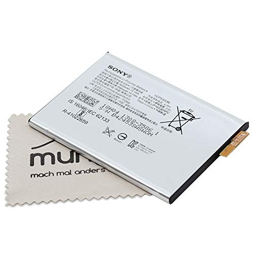 Akku für Sony Original LIS1553ERPC 1308-3586 für Sony Xperia XA1 Plus, XA2 Ultra, XA2 Plus mit mungoo Displayputztuch