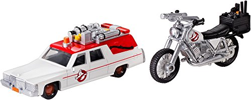 Hot Wheels DRW73 Ghostbusters Premium 1 y Ecto 2 miniaturas, 2 Unidades