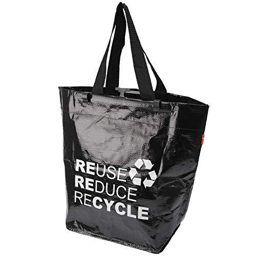 BikeZac praktische Einkaufstasche faltbar | Gepäckträgertasche Fahrrad | Einkaufsfahrradtasche | Einkaufswagen Tasche | E-Bike Shopper | Recycling | Folding Shopping Bag | Bikezac 2.0 Recycle