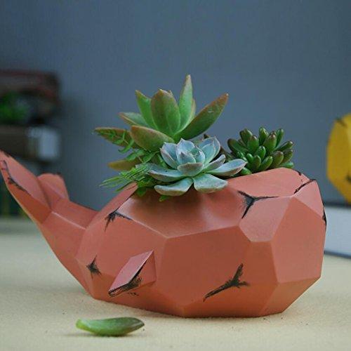 Moderni Vasi Di Piante Succulente In Resina Minimalista Artigianato Personalità Creativa Vaso Di Fiori Ornamenti For Piante In Vaso In Resina (Color : Pink)
