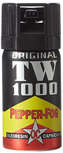 Hoernecke Pfefferspray Pfefferspray TW1000 Man (40 ml/Nebel) Pepper Fog, schwarz, 40.0, 130201