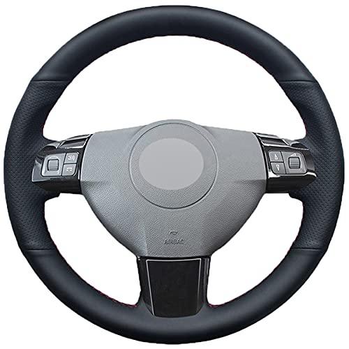 Cubierta Volante Cubierta de volante de cuero de piel sintética negra para Opel Astra (H) Signum CORSA 2004-2009 ZAFLRA (B) 2005-2014 VECTRA (C) 2005-2009 (Color Name : Dark Gray Thread)