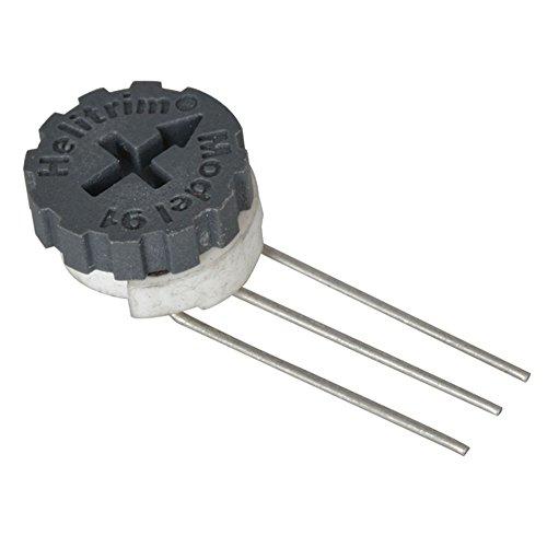 BI Technologies 91WR100K Round Cermet Potentiometer, 100K Ohm, Single Turn, 1/2 Watt, 3/8' Size (Pack of 10)
