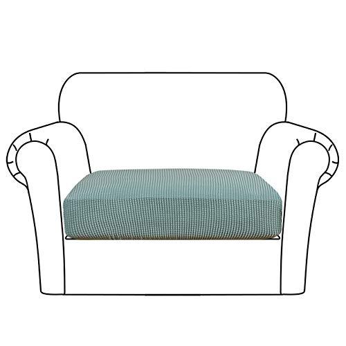 High Stretch Seat Cushion Cover Sofa Cushion Furniture Protector fot Sofa Seat Sofa Slipcover Sofa Cover Soft Flexibility with Elastic Bottom (1 Piece Cushion Covers, Sage)