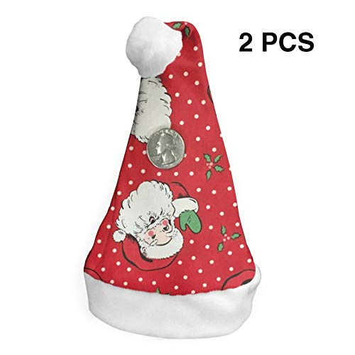 2 Pcs Christmas Hats Merry Christmas Santa Claus Caps Xmas Novelty Decoration