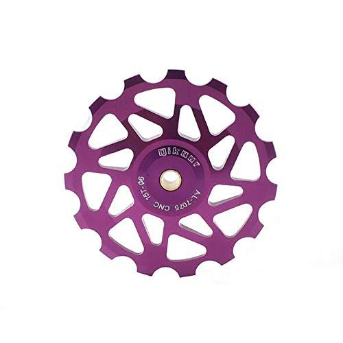 feilai Bicicleta y bicicleta MTB Bicicleta Cambio Trasero 13T Polea Rueda con Rodamiento Guía de Bicicleta de Montaña (Color: Púrpura)