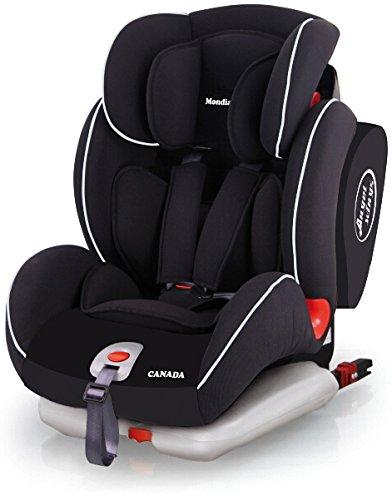 Mondial Safe Canada Isofix 2 KS02- Silla de bebé para automóvil, color negro con ribete blanco