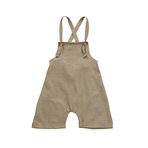 PAOLIAN Monos Ropa para Unisex bebé niñas Tirantes de Pantalones Corta Verano 2018 Sólido Peleles para bebés niños niñas de 12 Meses 18 Meses 24 Meses 3 años
