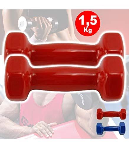 Trade Shop - Coppia di MANUBRI in Vinile da 1,5 kg OGNUNO MANUBRI Pesi Palestra Fitness Sport - 25091