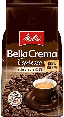 Melitta BellaCrema Espresso, Kaffeebohnen 8x 1000g (8000g) - 100% Arabica