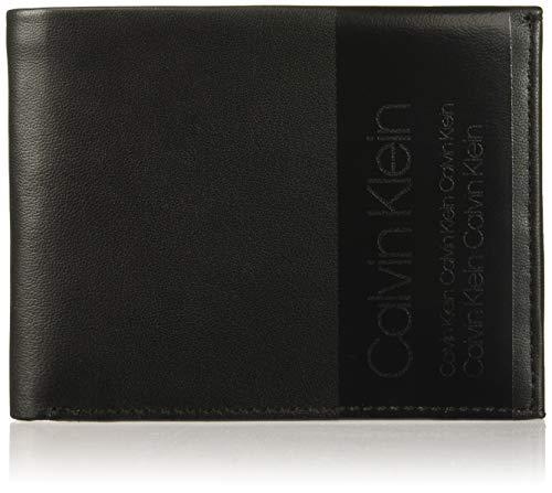 Calvin Klein - Elevated 5cc Coin, Tarjeteros Hombre, Negro (Black), 9.5x1.9x12.4 cm (B x H T)