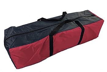 Tente de camping pour 4 personnes ? Tente pyramide de 350 x 300 cm ? Tente familiale ronde de type tipi, Rot