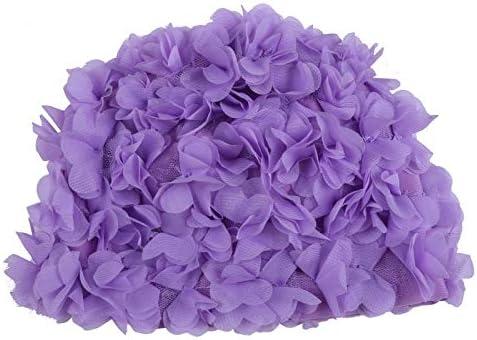 feichang Vintage Floral Ladies Woman Swim Limited time sale Super beauty product restock quality top! Retro Cap Petal Swimmi