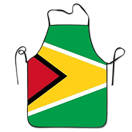 WXM Feng Flagge von Guyana Küchenschürzen Herbst/Winter/Halloween/Thanksgiving, Schürze zum Kochen & Backen, 51 x 71 cm