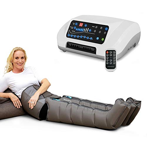 Venen Engel ® 8 Premium Massage-Gerät mit Bauch- & Beinmanschetten, 8 deaktivierbare Luftkammern, Druck & Zeit unkompliziert einstellbar, 6 Massage-Programme