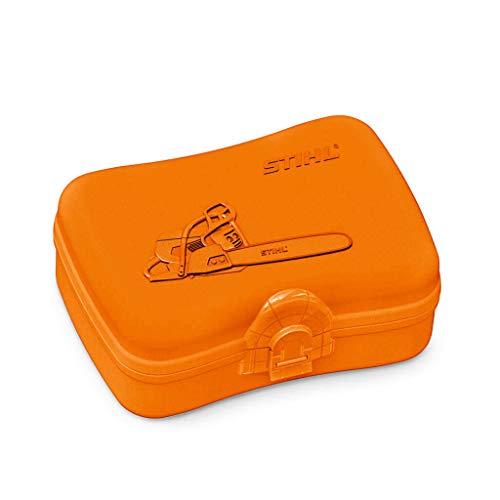 Stihl Brotdose, Plastik, orange, 17x12,5x6,5