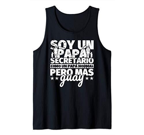 Hombre Secretario Regalo de padre para papá - Soy un papá Secretari Camiseta sin Mangas