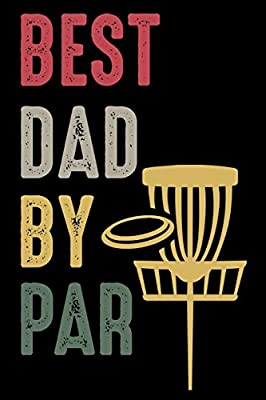 """Best Dad by Par: Retro Design Disc Golf Scorecards Album for Golfers 
