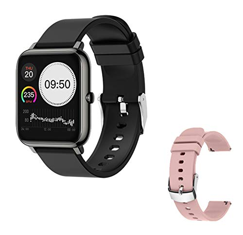 L.B.S Smart Watch P22 Fitness Impermeable Sports Watch P2 Rastro del Corazón Tracker Call/Message Recordatorio Bluetooth Smart Watch para Android iOS,G