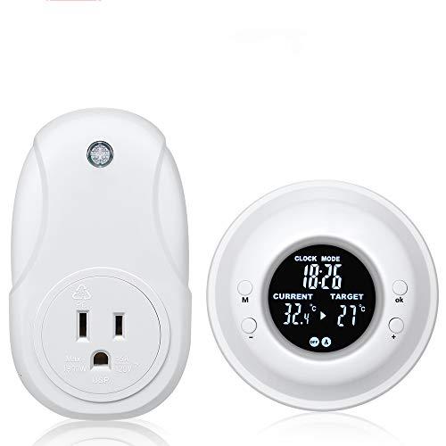 Programmable Wireless Thermostat Plug, Hycency Digital Temperature...