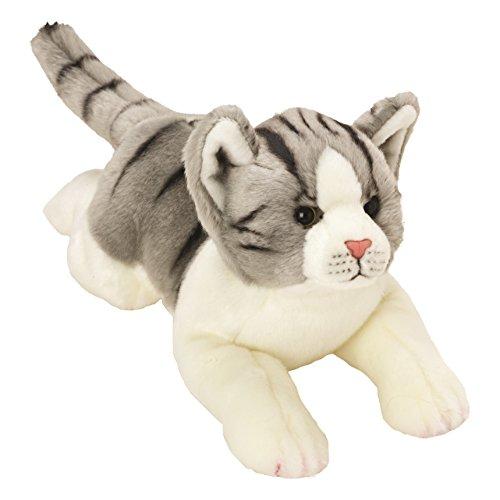 Yomiko 12074 - Suki Gifts Plüschtier Tigerkatze Katze, 36 cm, grau