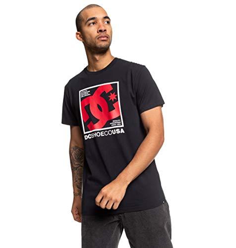 DC Shoes Magnum Contact-Camiseta para Hombre, Black, M