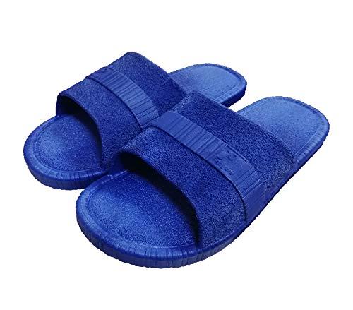 Zapatillas Antideslizantes Antideslizantes para Mujeres y Hombres Baño de Uso en el Interior Sandalia Suela de Espuma Suave Zapatos para Piscinas Inicio de Diapositivas (40/41EU, Navy Blue)
