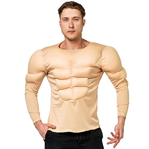 DSplay Adult Muscle Shirt Costumes for Men