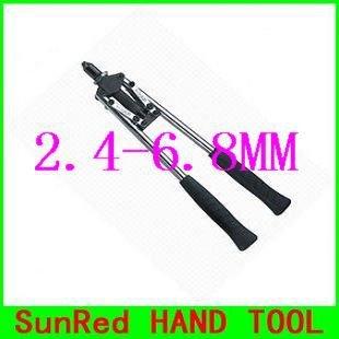 Gewalst staal 2.4-6.8MM hand blind klinknagels pistool hardware gereedschap, NO.04202, groothandel en detailhandel