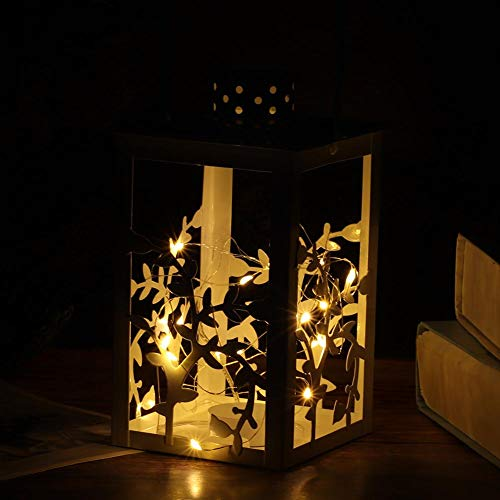 Yisenda Candeliere Decorativo a LED in Stile retrò da Appendere, luci a Stringa LED, da Prendere Come candeliere per la Decorazione della casa Soggiorno Camera da Letto