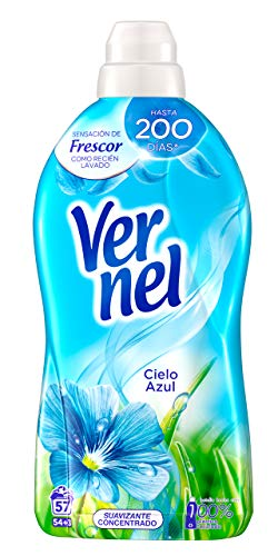 Vernel Suavizante Concentrado para la Ropa Cielo Azul - 54+3 Lavados, 1.140 L