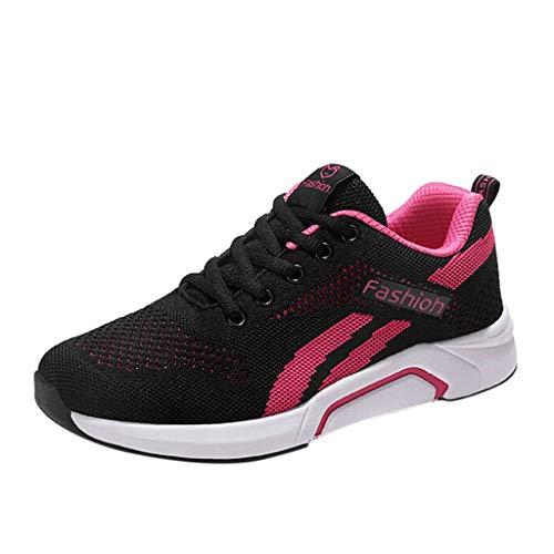 SHINEHUA vrijetijdsschoenen dames loopschoenen zachte lichte turnschoenen ademende sportschoenen trainer sneaker outdoor fitnessschoenen comfortabele zomer platte schoenen 35-40