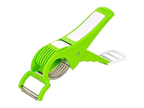Multi Cutter With Peeler For Vegetable And Fruit Extra Sharp Stainless Steel, Mother's Day Gift (Green) (Green)