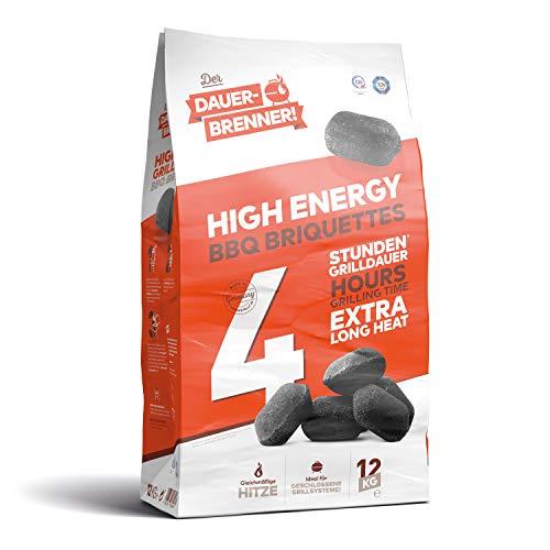 Energie Kienbacher Dauerbrenner 12-24kg Grillbrikett Premium Grill Brikett Holz Kohle Lange Brenn-/Glutdauer Made in Germany (12)