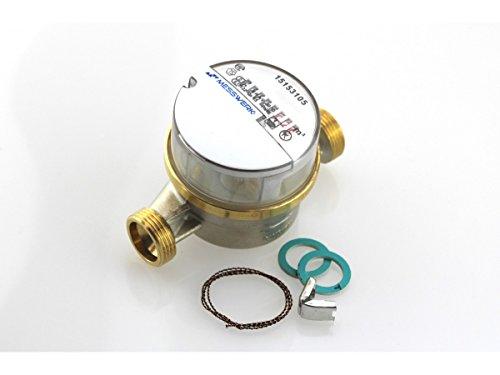 Einstrahl-Aufputz Wasserzähler kalt QN 2,5 DN20 3/4