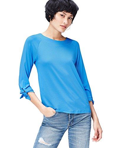 Marca Amazon - find. Blusa de Vichy para Mujer, Azul (Marine Blue), 36, Label: XS