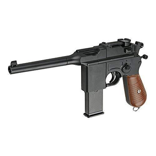 Galaxy G10 - Pistola a molla tipo Mauser M712/C96 per softair, full metal, con ricarica manuale (0,4 joule)